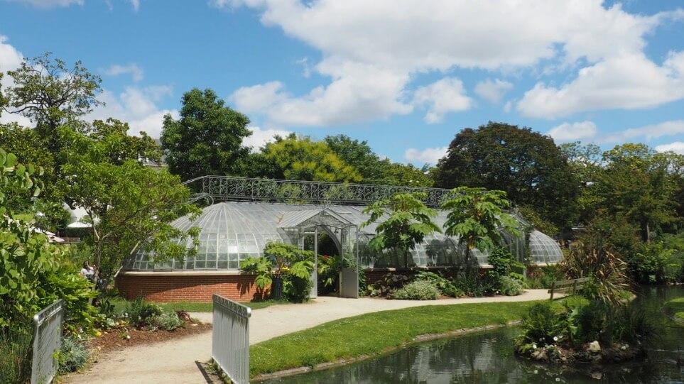 Jardin des plantes de Nantes avec de nombreux camélias